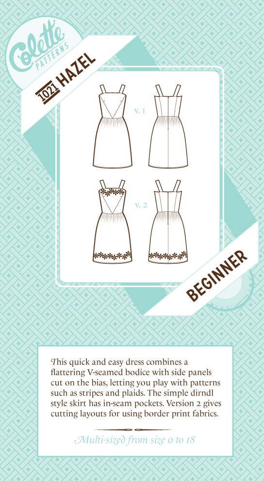 Colette Patterns Hazel Dress - 1021