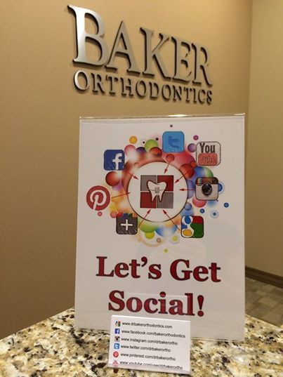 Baker Orthodontics is getting social!!! Through Facebook, Twitter, YouTube, Instagram, Google+, Pinterest, & www.drbakerorthodontics.com, Baker Orthodontics provides fun facts, updates, and helpful information available to patients. #bakerorthodontics