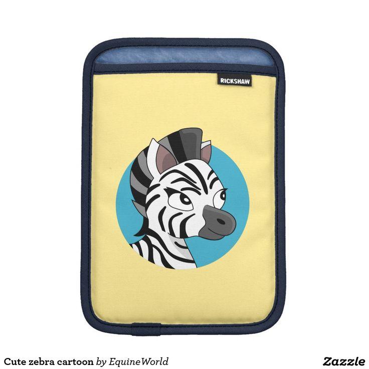Cute zebra cartoon iPad mini sleeves