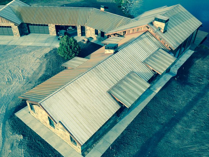 Corten Roof On A House In Utah By Labrador Construction Using The  SnaptableHD To Create Perfect