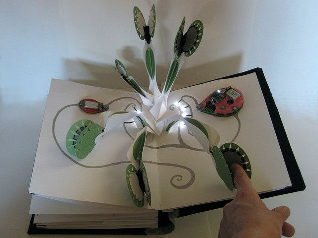 jie qi's interactive pop-up book by leahbuechley, via Flickr