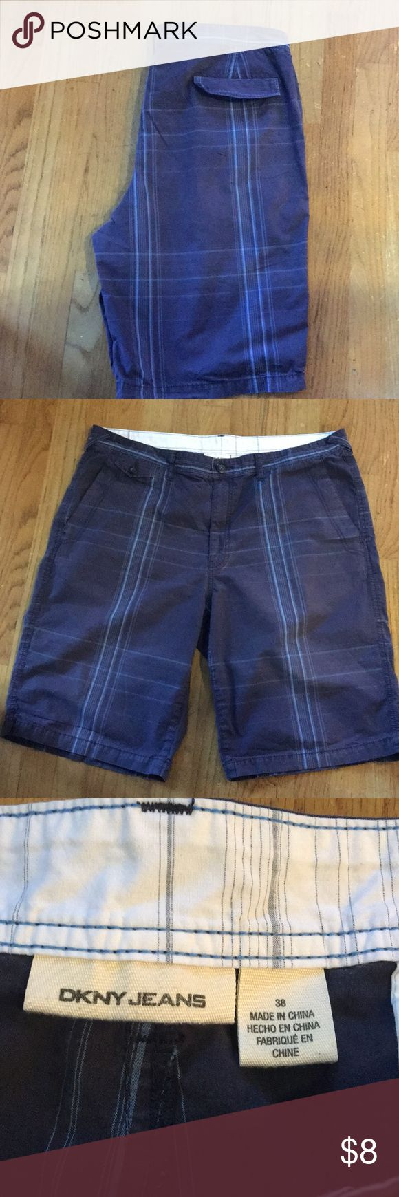 DKNY men's blue shorts size 38 DKNY men's blue shorts in size 38. Color lighter than pictures. In good condition! Dkny Shorts Flat Front