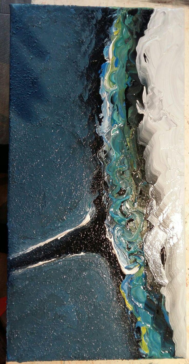 abstrait acrylique marin