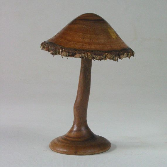 Turned and Carved Mushroom of Black Walnut by naturalrotations