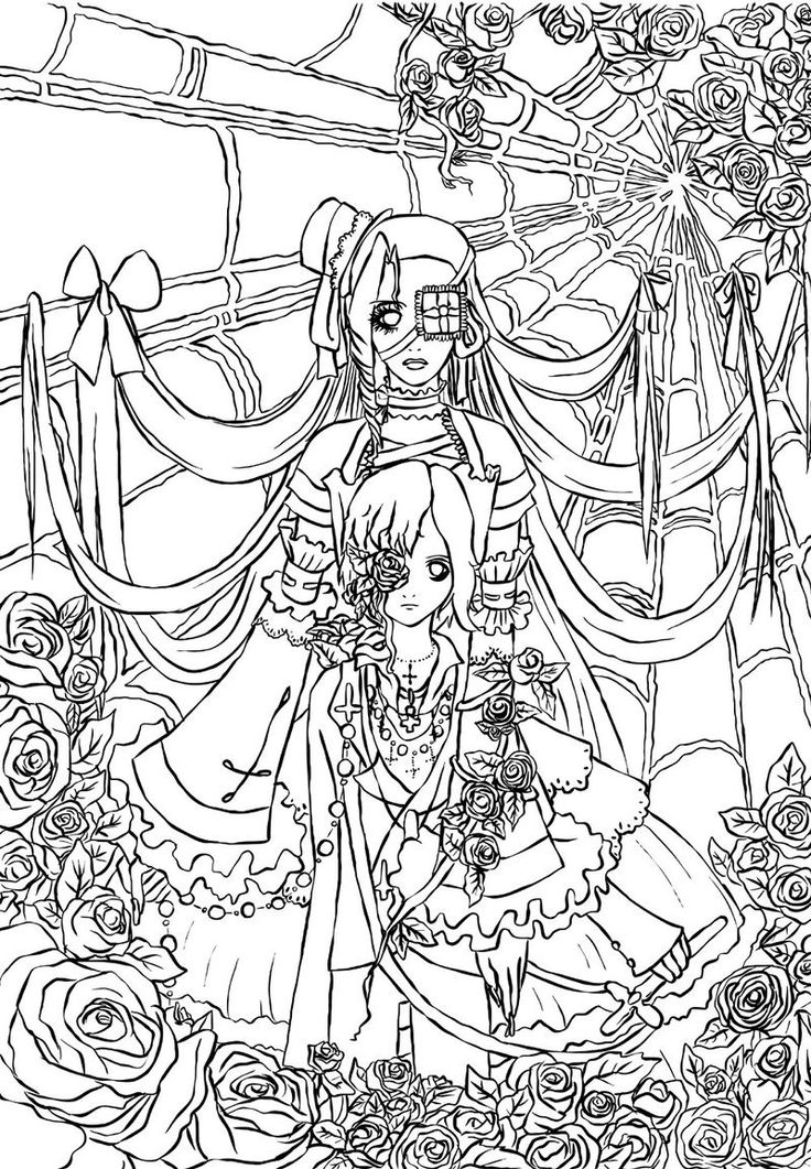 gothic art coloring pages - photo#22