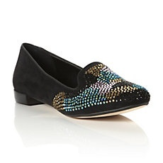 and some serious attention-worhty slippers > Dune's LOVEBUG - Multi-Coloured Diamante Encrusted Slipper