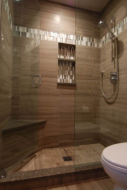 Amazing Porcelain Athens Gray Tile For Shower Wall, 12 X 24 Laid In Alignment,  Shower