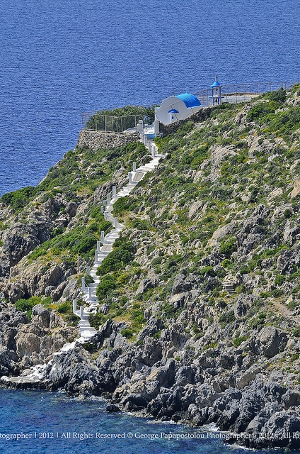 Church on the edge in Kalymnos