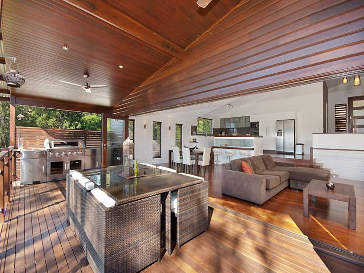 Enclosed outdoor living design with bbq area & outdoor ... on Indoor Outdoor Entertaining Areas id=30845
