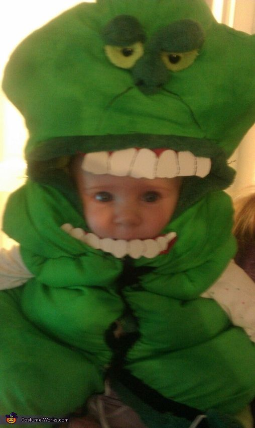 Slimer from ghostbusters costume baby costumes creative for Creative toddler halloween costumes
