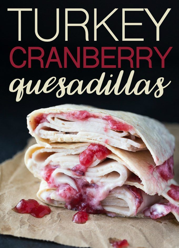 Turkey Cranberry Quesadillas by Simply Stacie| Featured on #TrafficJamWeekend