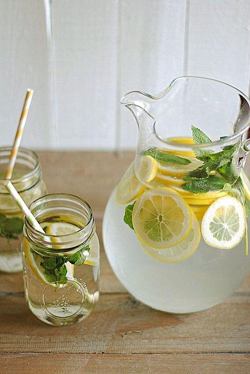Lemon Water With Fresh Mint