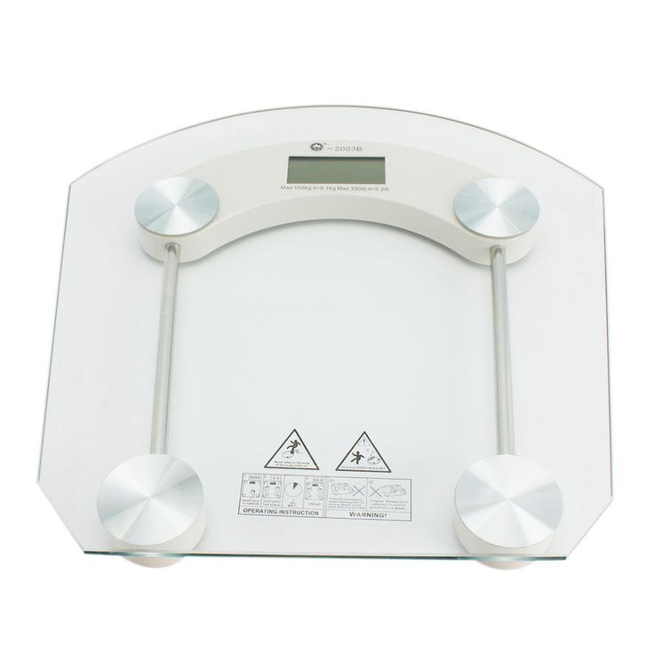 180Kg/400Lb Bathroom Personal Digital Body Weight Scale Safty Glass Diet Food