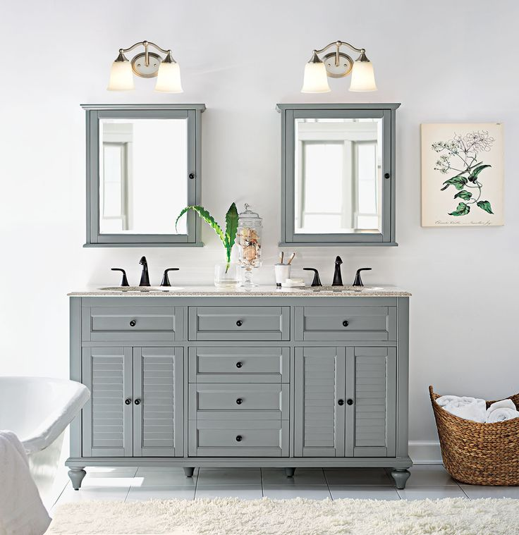 A little coastal flair in the bathroom makes for a relaxing spa like  retreat 165 best Bath images on Pinterest   Bathroom ideas  Bath vanities  . In The Bathroom. Home Design Ideas