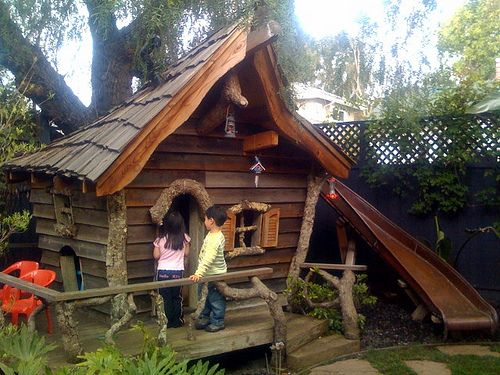 How to build a kids' playhouse  ~ Great pin! For Oahu architectural design visit http://ownerbuiltdesign.com