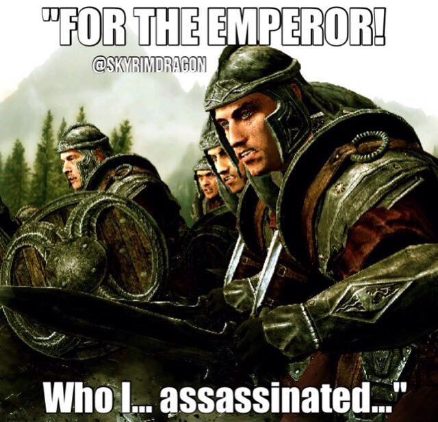 When you are a member of the dark brotherhood and the imperial army
