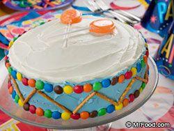 Cute drum cake idea!!