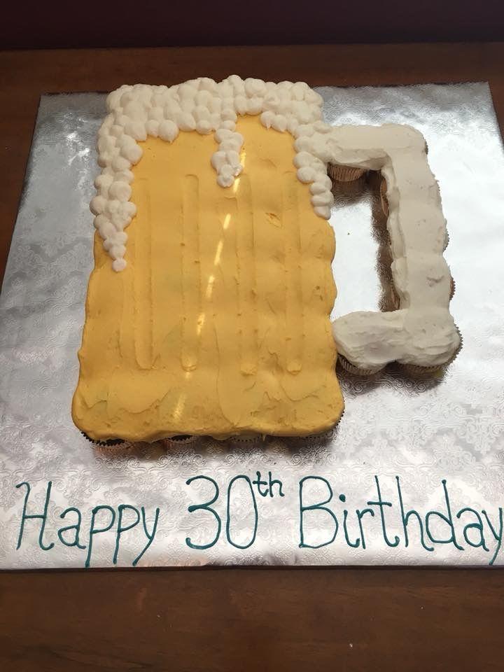 Astonishing Beer Mug Cupcake Cake Beer Themed Cake Funny Birthday Cards Online Sheoxdamsfinfo