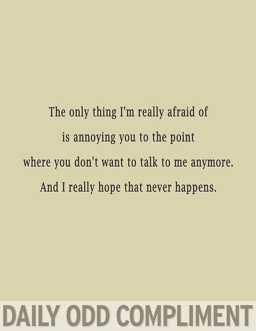 """Really Afraid"""