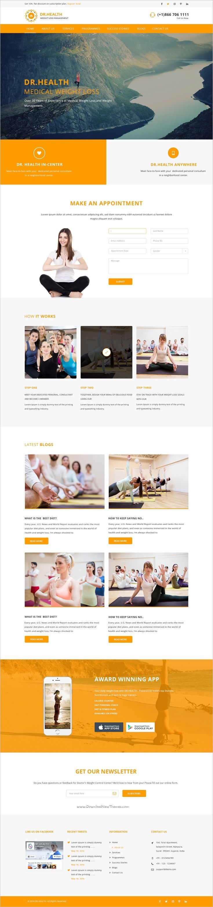 Dr.Health is a modern and creative #PSD template for #yoga and #healthcare websites with 5 homepage layouts and 38+ organized PSD pages download now➩ https://themeforest.net/item/drhealth-modern-and-creative-psd-template/18501343?ref=Datasata