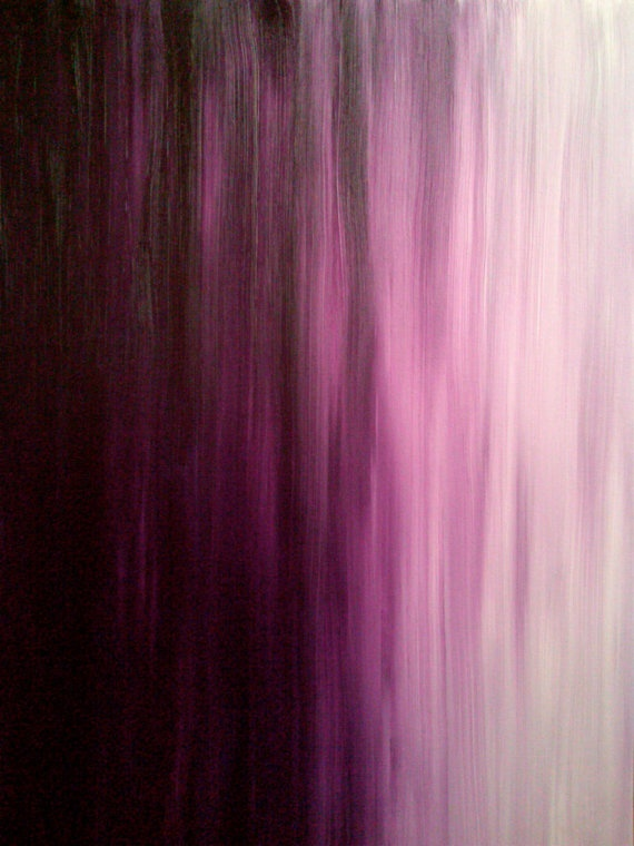 Painting, Violet Series II - Abstract -Elizabeth Leakway
