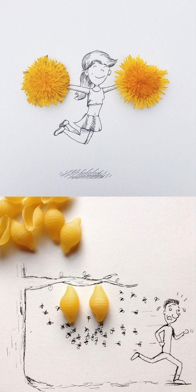 They say don't play with your food but nobody said anything about making art with it.