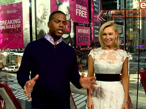 "Kym Johnson recently chatted with ""Extra's"" AJ Calloway at our H&M studios in NYC, where she promoted her new book and DVD on how to stay in shape, ""The 5-6-7-8 Diet: The 14-Day Plan for Healthy, Lasting Weight Loss."" Though Kym's return to…"