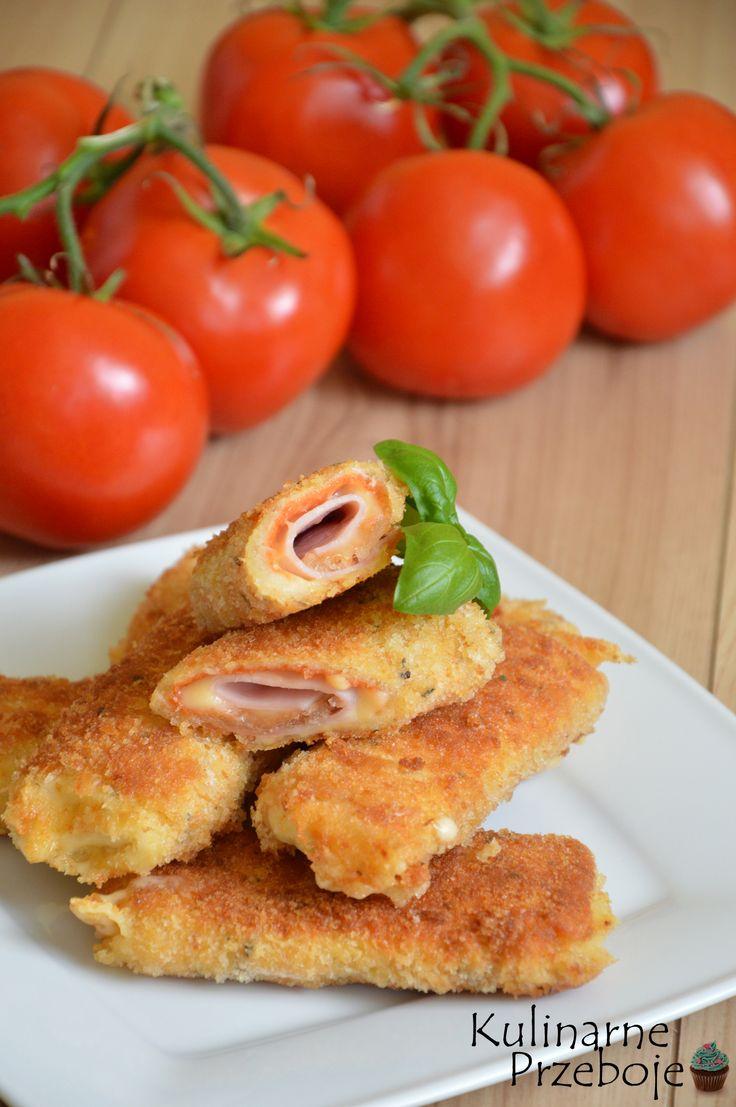 krokiety z chleba tostowego, krokiety z chleba tostowego z szynką i serem, pomysłowe krokiety na kolację, pomysłowe krokiety na imprezę