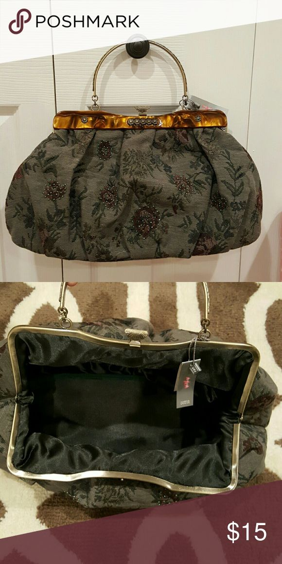 MARKS & SPENCER PURSE NWT Brand new from London!! NWT. VINTAGE TEXTILE FABRIC WITH VINTAGE INSPIRED HARDWARE. Marks & Spencer Bags Satchels