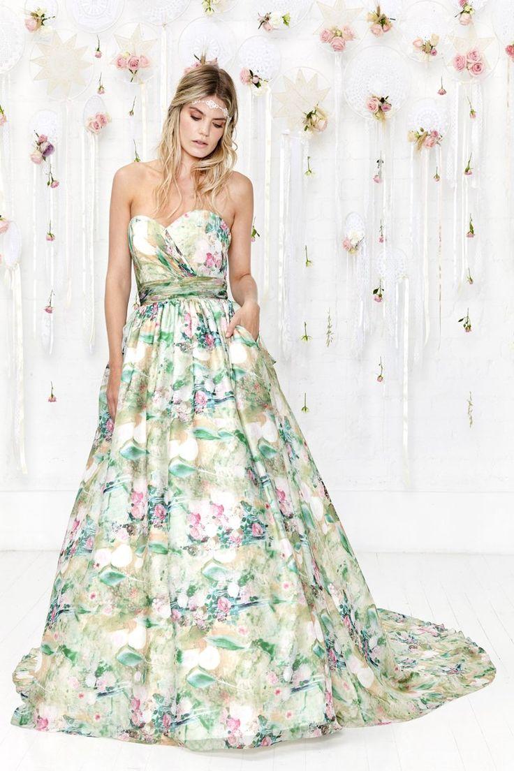 18 best Floral Wedding dresses images on Pinterest | Short wedding ...
