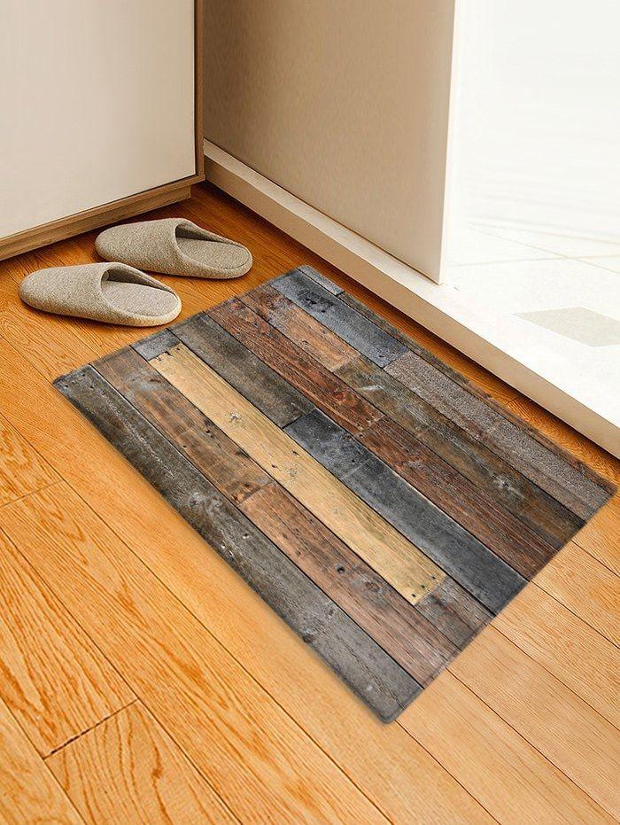 Wood Board Print Water Resistant Floor Mat Rugs On Carpet Printed Floor Mat Floor Rugs