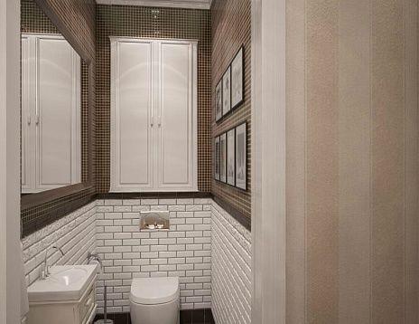 Санузел, решенный с использованием плитки и имитации кирпичной кладки. Автор работы: Павел Алексеев. #дизайнинтерьера #igenplan #дизайнванной  #интерьерванной  #ванные
