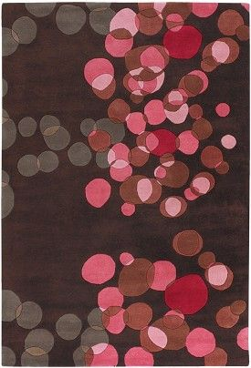chocolate and pink rug