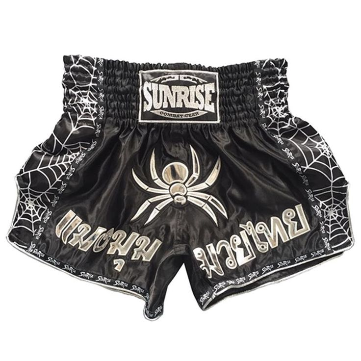 [Visit to Buy] Ebuy360 Sunrise MMA Fight Boxing Shorts Men Short Embroidery Printing Pants Training  Kick Kickboxing Muay Thai Shorts Trunks #Advertisement