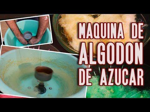 Poderosa máquina de algodón de azúcar casera (homemade cotton candy machine) - YouTube