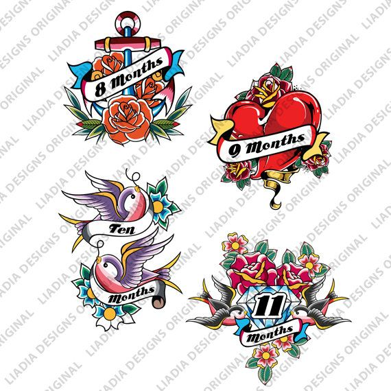Onesie Shirt Stickers Rockstar Tattoos Baby by LiaDiaDesigns, $15.00