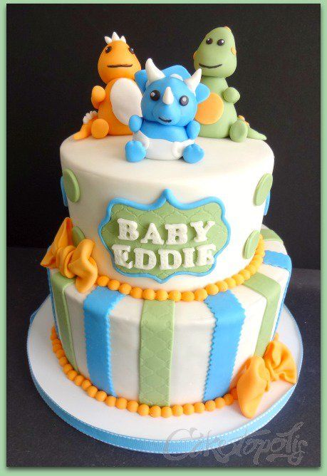 dinosaur baby shower cakes - Google Search