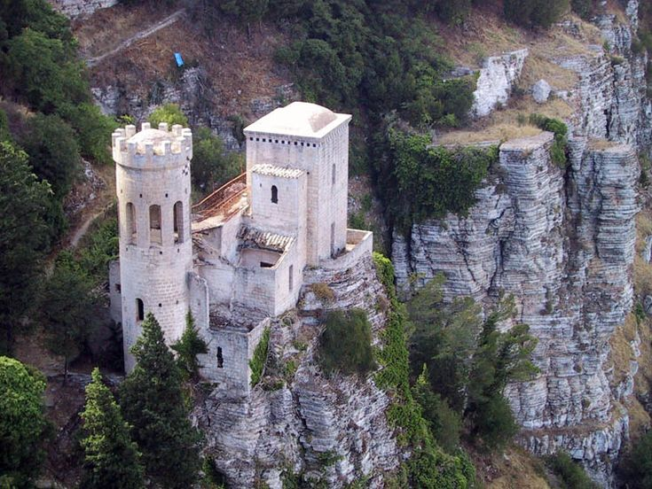 Erice, Sicilia. Take the cable car to the top.