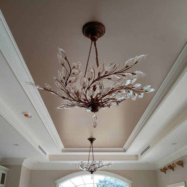 Champagne Metallic Paint by Modern Masters on the ceiling | Gorgeous  project by Toni Crockett Design