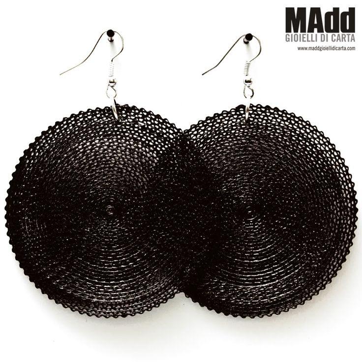 MAdd Gioielli di carta / MAdd Paper jewels: ORECCHINI DI CARTA ONDULATA / CORRUGATED PAPER EARRINGS