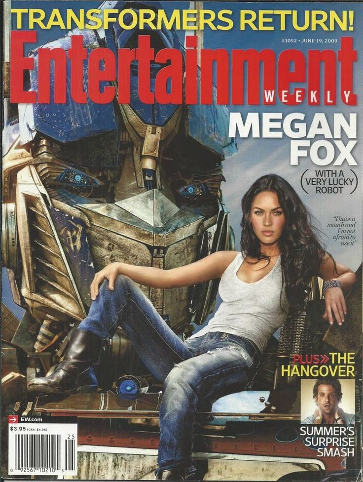 Entertainment Weekly magazine Transformers Megan Fox The Hangover Kenny Chesney
