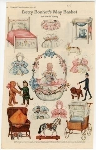 75.2938: Betty Bonnet's May Basket | paper doll | Paper Dolls | Dolls | Online Collections | The Strong