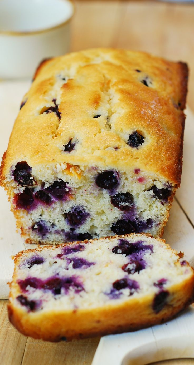 Lemon Blueberry Bread #recipe #baking