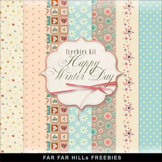 New Freebies Kit of Paper - Happy Winter Day