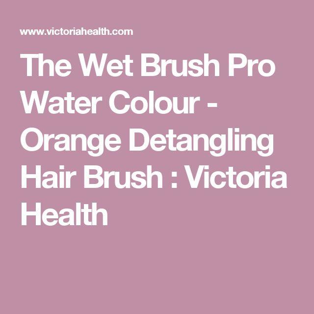 The Wet Brush Pro Water Colour - Orange Detangling Hair Brush : Victoria Health