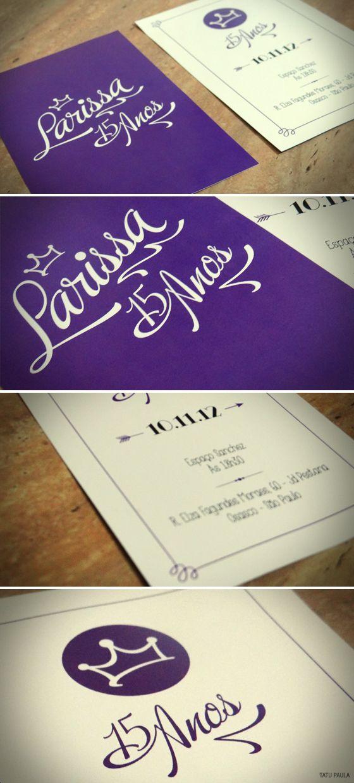 15 Anos | Invitation by Tatu Paula, via Behance