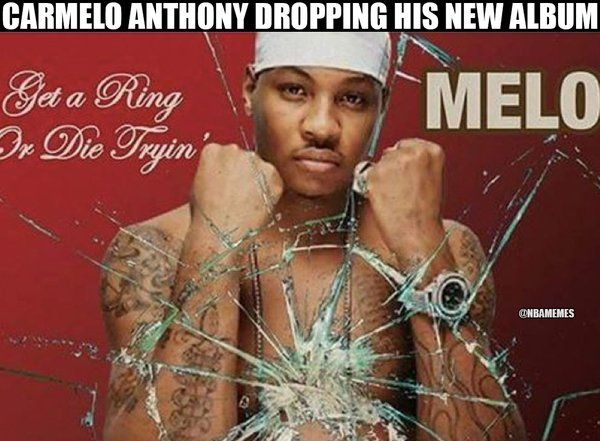 New album featuring Carmelo Anthony! - http://nbafunnymeme.com/nba-funny-memes/new-album-featuring-carmelo-anthony-getaringordietrying