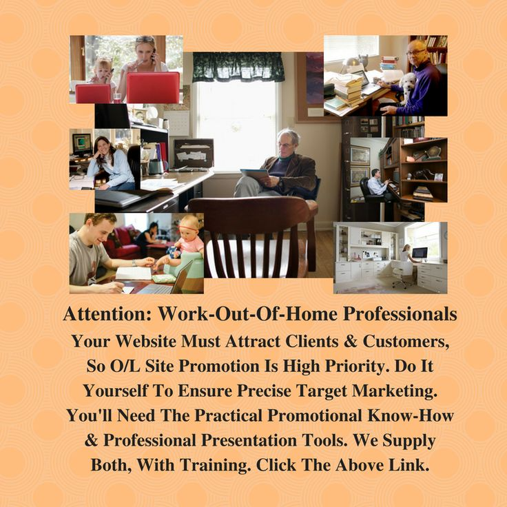 As a home-based professional you must promote your website!  How can you do it effectively? For the answer, click below  http://tcpros.co/k87ti