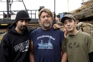 Captain Phil Harris of the Cornelia Marie on Deadliest Catch (Cntr.) and his boys.