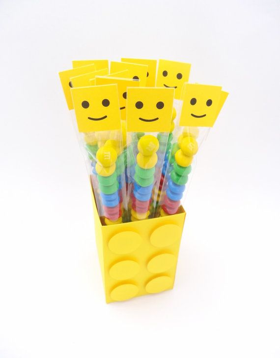 Lego Man Treat Bags  set of 12 by CynDetails on Etsy, $9.00